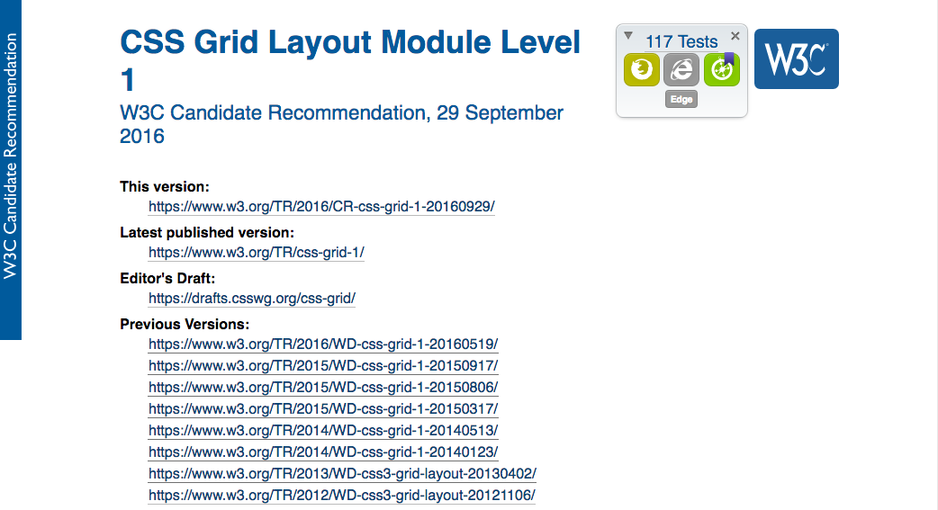CSS Grid Layout Module Level 1 at Candidate Recommendation