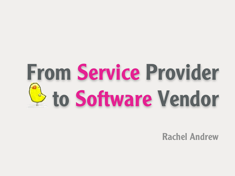 From Service Provider to Software Vendor